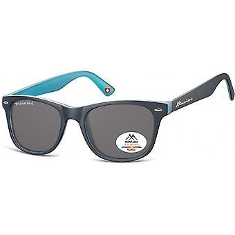 Sunglasses Unisex Havana Traveler Black/Blue (MP10)