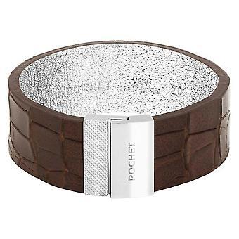 Pulsera Rochet FB1620204 - ACERO DIVA - Gold Leather Link 20mm Cierre de Imán de Mujer