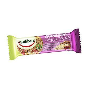 Barre aux canneberges et fèves de cacao 30 g