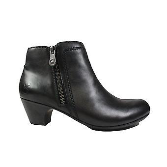 リーカー 70551-00 ブラック レザー 女性 ヒール アンクル ブーツ