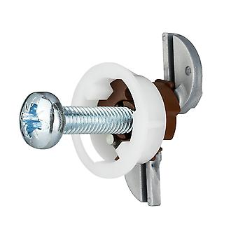 Gripit 20mm Plasterboard Fixing - 8 Pack (Brown) Stud Wall Anchor Max Load 93kg Support Heavy Loads
