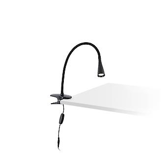 Faro Lena - LED Table Clip On Lamp Black