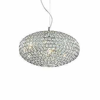 8 Light Medium Ceiling Pendant Chrome, E14