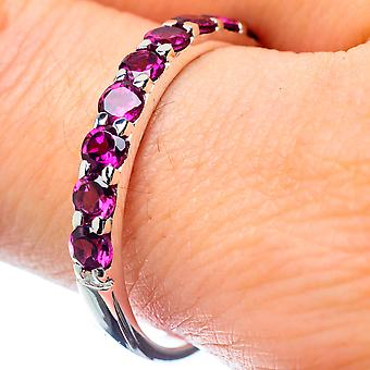 Pink Tourmaline Ring Size 10 (925 Sterling Silver)  - Handmade Boho Vintage Jewelry RING26962