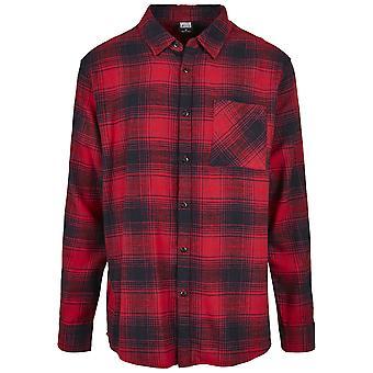 Urban Classics Men's Long Sleeve Shirt Oversized Checked Grunge