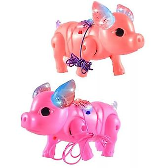 Cute Electric Music Walking Pig, Led Light Glow Electronic Pets Lantern Jucărie