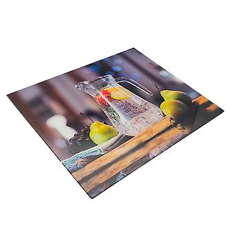 Glass Worktop Saver Chopping Board | 50 x 40cm - Jug | Non Slip Tempered Protector for Kitchen Surfaces