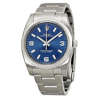 ROLEX Oyster Perpetual 34 Blue Dial Men's Watch 114200BLASO