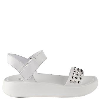 Ash VERA Sandals White Leather & Silver Studs