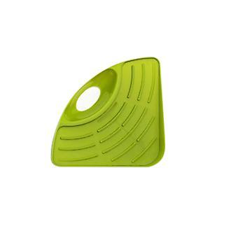 Sponge Holder Draining Rack Triangular Sink Drain Rack Green