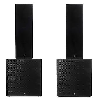 Big gig rig 14 - passive 5000w rms triple 12 and 21 subwoofer pa system