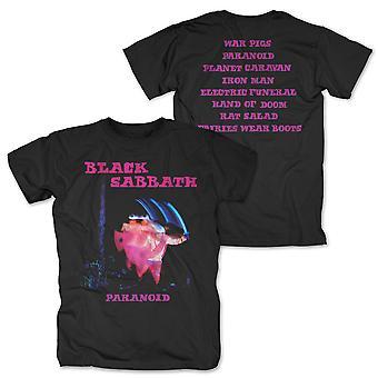 Maglietta Black Sabbath Paranoid Tracklist