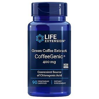 """תמצית קפה מאריך חיים, 400 מ""""ג, תמצית קפה ירוק 90 vcaps"""