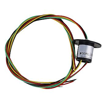 Zwarte 23.8MM Flange Dia 240V Metaal en Plastic 4 draden 2A Hattype Slip Ring