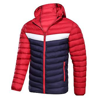 Men's Winter Lightweight Jacket Casual Thick Warm Jacket Hooded Cotton Coat
