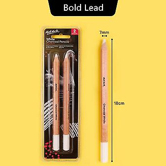 White Charcoal Pencil Highlight Sketch Drawing Art Tools - Bold Lead Not Easy