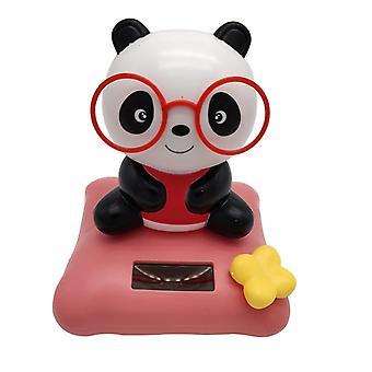 Güneş Enerjili, Bobble Head Panda-Dancing For Car Dashboard & Office Decor