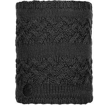 Buff Unisex Savva Chunky Knitted Fleece Winter Warm Neckwarmer Snood Scarf Black