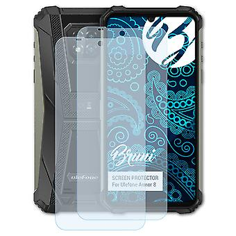 Bruni 2x Screen Protector compatible with Ulefone Armor 8 Protective Film