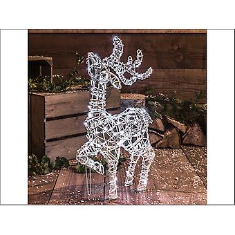 Noma Stand Reindeer 80 LED White Wicker 60cm 2518307