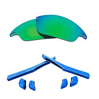 الاستقطاب استبدال العدسات عدة ل Oakley سريع سترة خضراء مرآة زرقاء مضادة للخدش ضد الوهج UV400 من قبل SeekOptics
