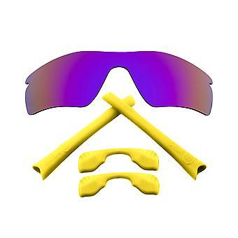 Kit di lenti sostitutive per Oakley Radar Path Purple Mirror Yellow Anti-Scratch Anti-Scratch Anti-Glare UV400 di SeekOptics