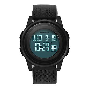 SANDA 337 Digital Watch LED Vandtæt PU Læder Sports Student Watch