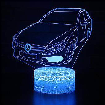 Kind cadeau 3D Touch Light Night 7 kleuren afstandsbediening - Voiture #109