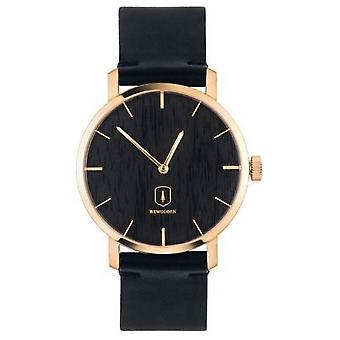 Reloj BeWooden Lux - Negro /Rosa Oro