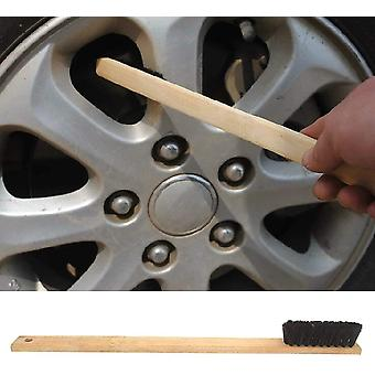 40cm bamboo brush for cleaning rims engine parts