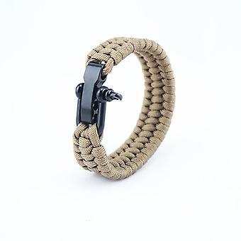 Taktisk Paracord Armband- Män / Kvinnor Utomhus Vandring Survival Klättring