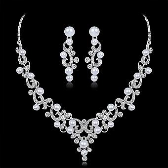 Crystal Jewelry Set Earring Wedding Bridesmaid Jewelry Necklace