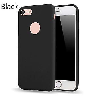 Slim Thin Frosted Soft TPU Mobiele Telefoon Shell Candy Color Beschermhoes voor iPhone