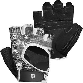 Lift Tech Fitness Frauen's Elite Gewichtheben Handschuhe - schwarz/grau