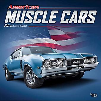 American Muscle Cars 2021 Square Foil Calendar by Browntrout