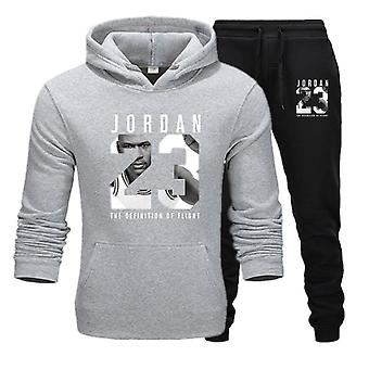 Männer Jordan 23 Trainingsanzug Sweatshirt Fleece Hoodie + Sweatpants