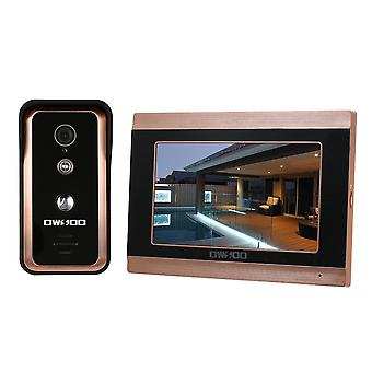 Tft Lcd Wired Video Door Phone Speakerphone Intercom System With Waterproof