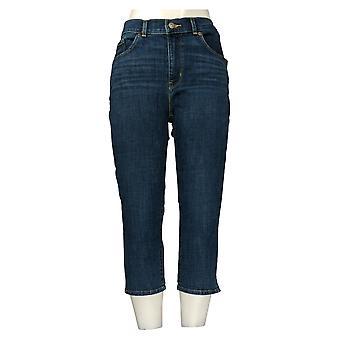 ليفي جينز المرأة النحت كابري طول ث / جيب الأزرق
