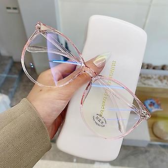 Transparent Glasögon Ram, Anti Blue Ljus Rund Eyewear Blocking Glasögon