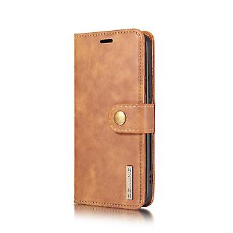 Dg. MING iPhone 12 Pro Max Split Leather Wallet Case - Brown