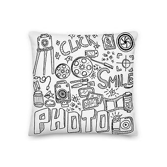 Valokuvaus droedel - Premium-tyyny