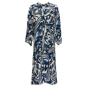 Women With Control Women's Sweater Petite Cashnit Printed Duster Blue A375895