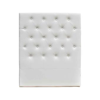 """Cabecero de cama acolchado 90 cm """"Déco"""" en PVC - Blanco"""