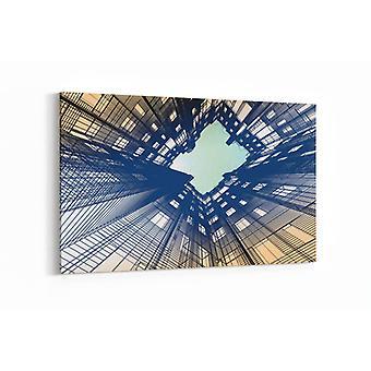 Schilderij - Modern gebouw — 100x70cm