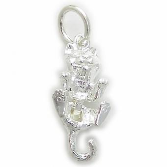 Kat bevægelige Sterling Silver Charm 0,925 X 1 Katte Charms - 4476