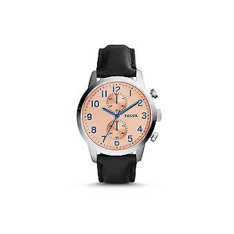 Fossil FS4986 Townsman Chronograph Champagner Zifferblatt schwarz Leder Herren's Uhr