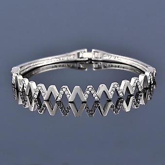 Charm Cubic Zirconia Hollow Bangle, Cross Bracelets Jewelry