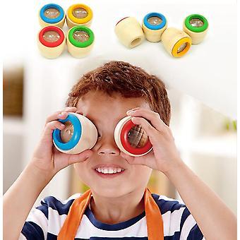 Ξύλινο εκπαιδευτικό μαγικό καλειδοσκόπιο μωρό παιδί μάθηση παζλ