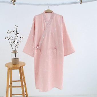 Woman Kimono Pajamas Yukata Japanese Style Floral Loose Long Sleepwear