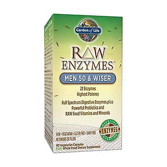 Raw enzymes Men 50 & Wise 90 vegetable capsules